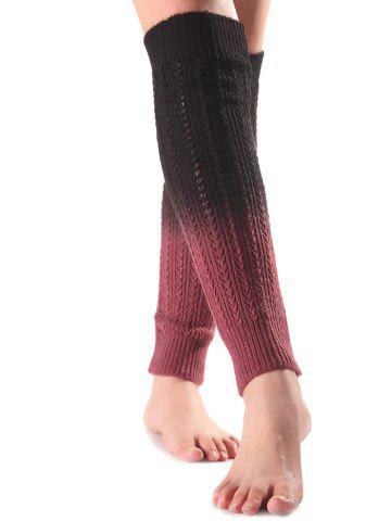 Sale Warm Ombre Knit Leg Warmers BLACK