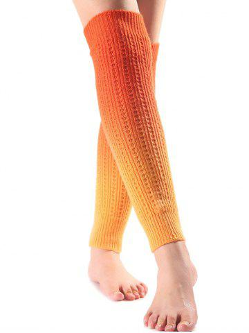 Outfit Warm Ombre Knit Leg Warmers