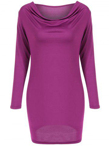 New Cowl Neck Long Sleeve Dress