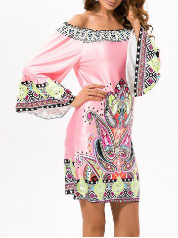 Best Off Shoulder Printed Ethnic Dress