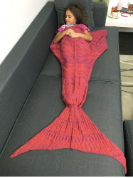 Portable Crochet Yarn Knitted Mermaid Tail Shape Blanket