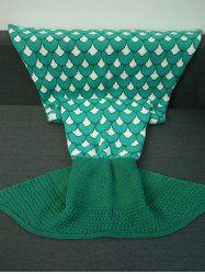 Knitting Jacquard Design Mermaid Tail Shape Blanket