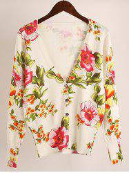 Floral Stretchy Cardigan -