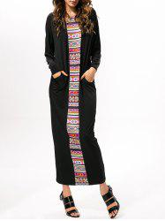 Printed Loose Prom Maxi Dress