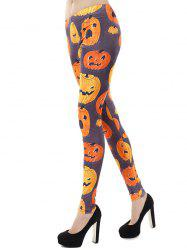Taille haute Fit citrouille d'Halloween Leggings - Multicolore