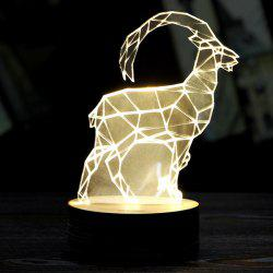 Sheep 3D LED Wooden Base Sleeping Atmosphere Visual Night Light