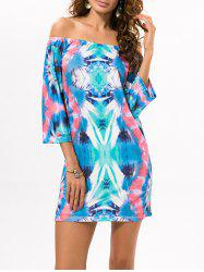 Tie-Dyed Off The Shoulder Dress -