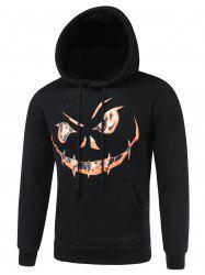 3D Print Drawstring Hallowmas Black Hoodie Mens
