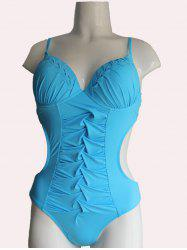 Tiered Twist One Piece Underwire Push Up Swimsuit