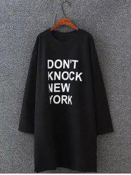 Plus Size New York Sweatshirt Dress -