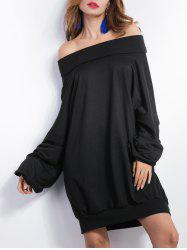 X Long Sleeve Casual Off The Shoulder Dress