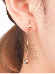 Pair Of Minimalist Design Ball Earrings -