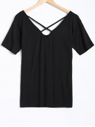 Short Sleeves Criss Cross T-Shirt -