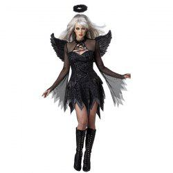 Cosplay Suit Exotic Apparel Sexy Adult Dark Devil Fallen Angel Halloween Costume - BLACK