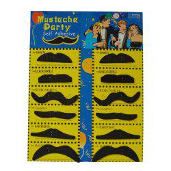 Costume drôle 12pcs Halloween Party Faux Mustache - Noir