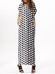 Polka Dot Print Loose Maxi Dress