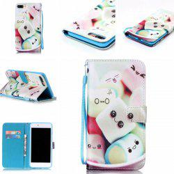 Cartoon Bun PU Leather Wallet Design Phone Case For iPhone 7 Plus