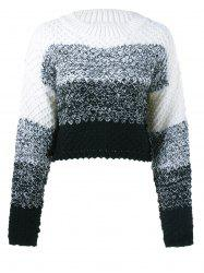 Textured Contrast Color Sweater -