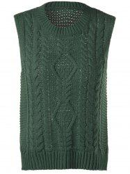 Cable-Knit Sleeveless Textured Knitwear -