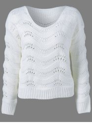 Ribbed Openwork Sweater -