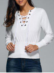 Lace-Up Slimming Sweatshirt