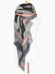 Winter Big Houndstooth Fringed Wrap Shawl Blanket Scarf