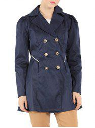 Slim Fit Double Breasted Dressy Trench Coat