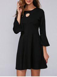 Flounce Flare Sleeve Dress -