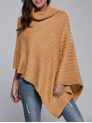 Batwing Sleeve Turtle Neck Cape Sweater -