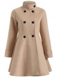 Warm Double-Breasted Felt Trench Coat -