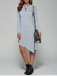 Autumn Asymmetric Long Sleeve Casual Dress