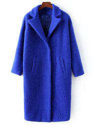 Lapel Collar Woolen Overcoat -