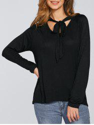 Pussy Bow Vintage Bowknot Blouse -