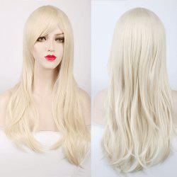 Multicolor Long Side Bang Layered Tail Adduction Cosplay Lolita Synthetic Wig - OFF-WHITE