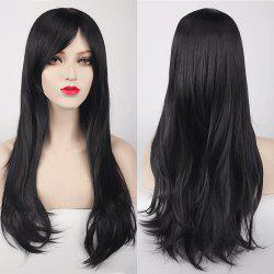 Multicolor Long Side Bang Layered Tail Adduction Cosplay Lolita Synthetic Wig - BLACK
