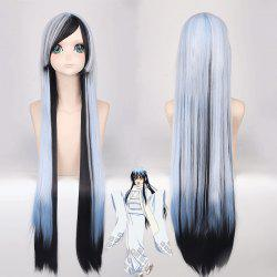 Cosplay Long Side Bang Straight Yuki Onna Nurarihyon No Mago Synthetic Wig - COLORMIX