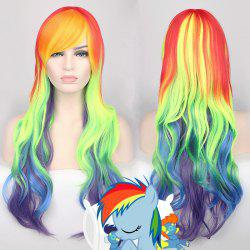 Cosplay Long Side Bang Wavy Rainbow Dash My Little Pony Synthetic Wig
