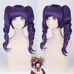 Long Full Bang with Curly Bunches Katen Kyou Kotsu Bleach Cosplay Synthetic Wig