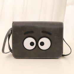 Stitching Cartoon Eyes Crossbody Bag
