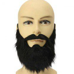 Halloween Party Supplies False Beard Cosplay Prop Decoration - BLACK