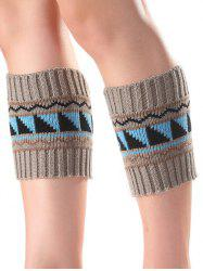 Warm Triangle Wavy Pattern Knit Boot Cuffs -