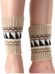 Warm Triangle Wavy Pattern Knit Boot Cuffs