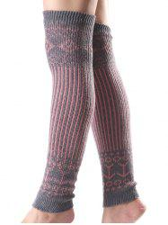 Warm Rhombus Vertical Stripe Knit Leg Warmers
