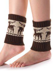 Warm Christmas Deer Knit Boot Cuffs