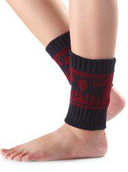 Warm Christmas Deer Knit Boot Cuffs -