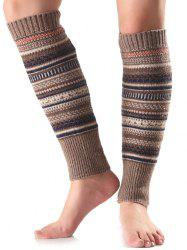 Chaud ethniques Warmers Multicolor Stripe Knit Leg -