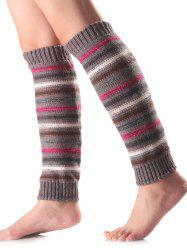 Warm Horizontal Stripe Knit Leg Warmers