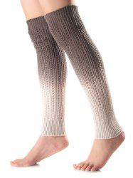 Warm Ombre Knit Leg Warmers -