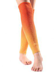Warm Ombre Knit Leg Warmers