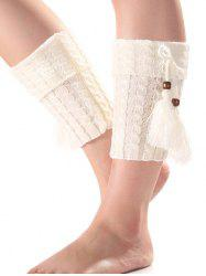 Warm Tassel Pendant Flanging Knit Boot Cuffs